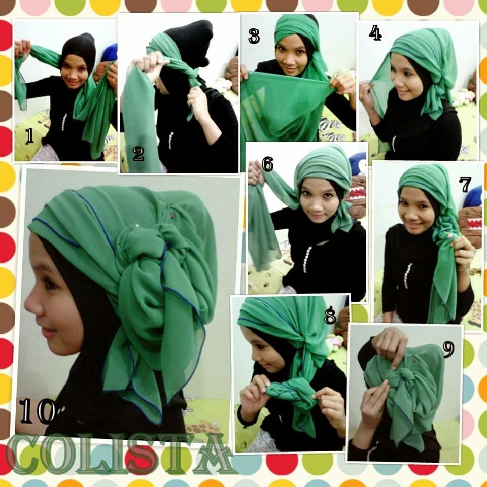 Cara Memakai Jilbab Segi Empat Simple Modern Widyanakhofifah12